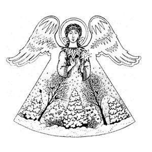 Ангел из бумаги на елку своими руками
