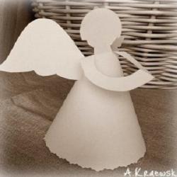 Объемные ангелы из бумаги