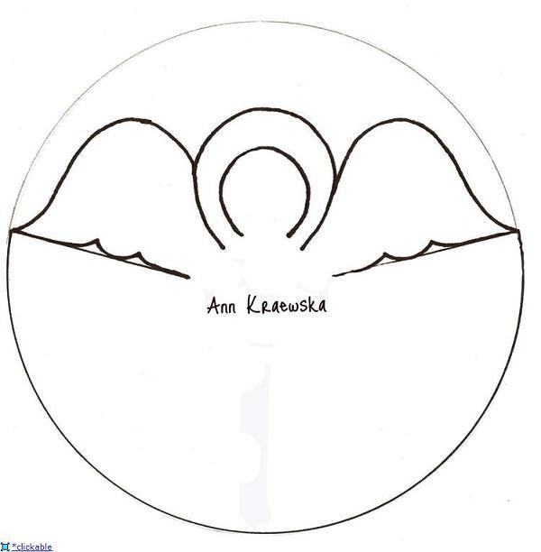 выкройка объемного ангела из бумаги