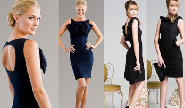 черные платья с открытой спиной.
