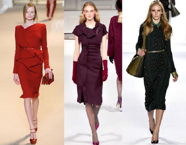 Зима 2012 2013 модные платья осень зима 2012
