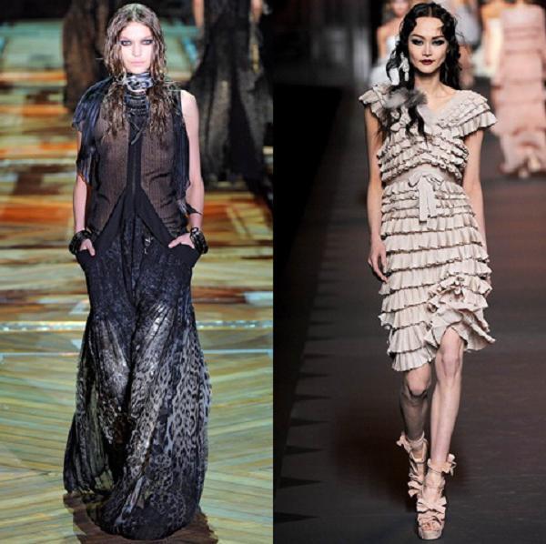 Фасоны модных платьев осень - зима.