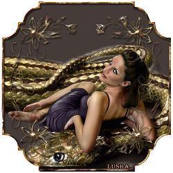 Анимированная открытка на год Змеи фото