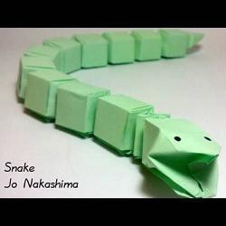 Оригами Змея фото