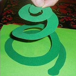 Детские поделки змей