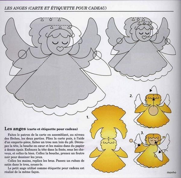Объемный ангел из бумаги