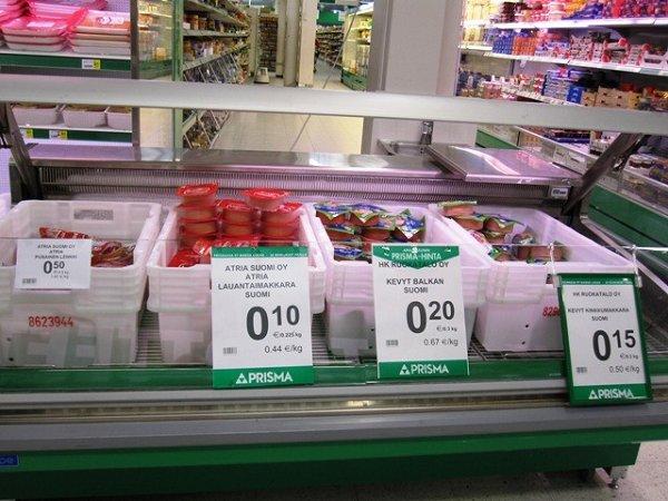 продукты в Финляндии