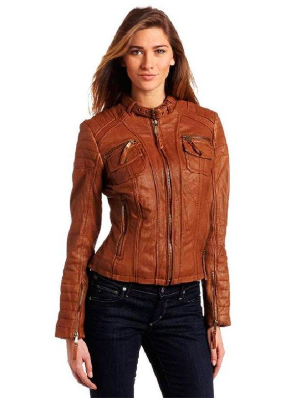 Кожаные куртки Весна-Осень 2014: Яркие краски