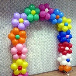 арка из воздушных шаров фото