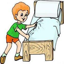 учим ребенка заправляем кровать фото