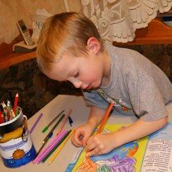 раскрашиваем карандашами фото