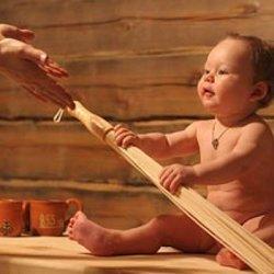ребенок в бане фото