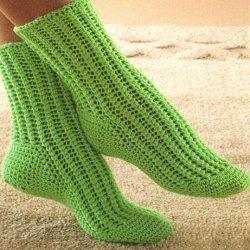 вязание носков крючком фото